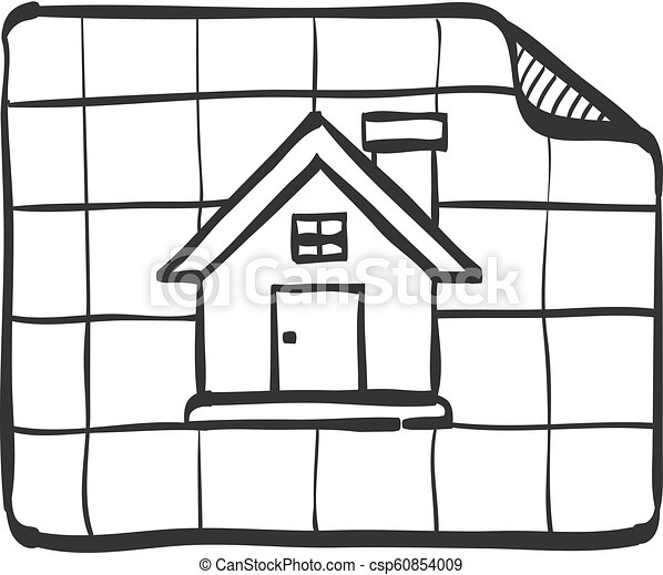Sketch Icon House Blueprint