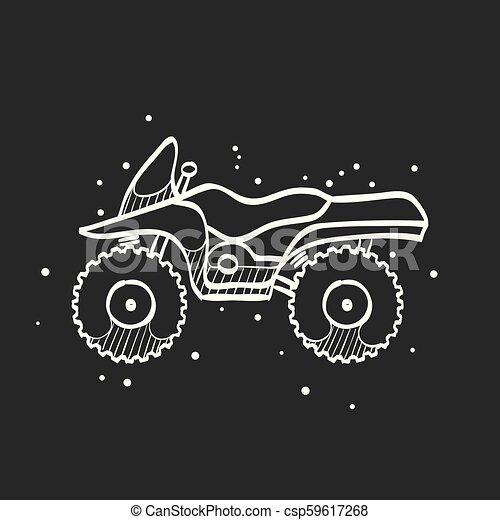 Sketch icon in black - All terrain vehicle - csp59617268