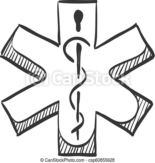 Sketch icon - Medical symbol - csp60855628