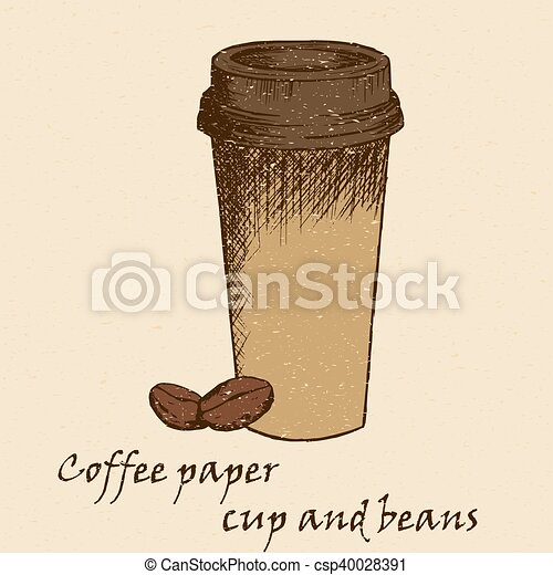 Sketch illustration of coffee cup - csp40028391