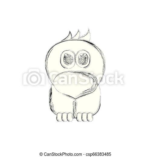 Sketch of a cute chicken - csp66383485