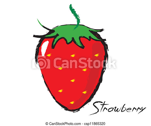 Sketch of a strawberry - csp11865320