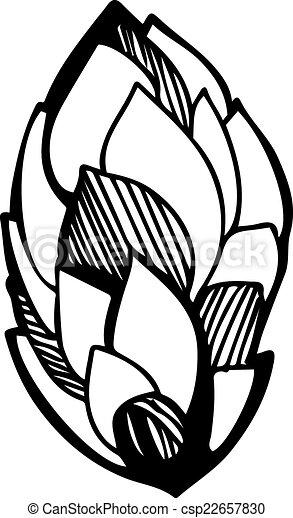 sketch of a vegetative ornament  - csp22657830