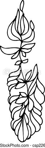 sketch of a vegetative ornament  - csp22628210