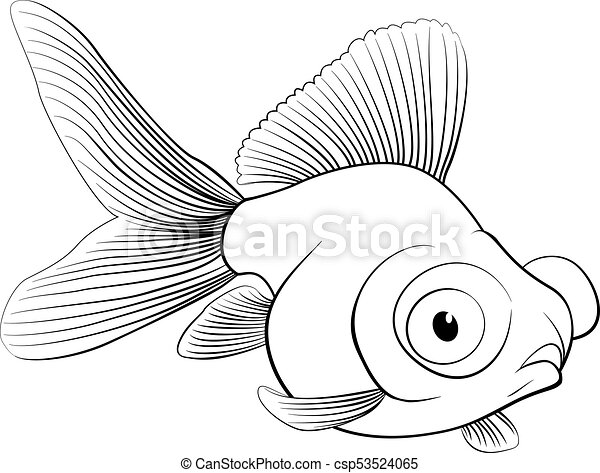 Sketch Of Aquarium Fish Vector Illustration Sketch Of Aquarium