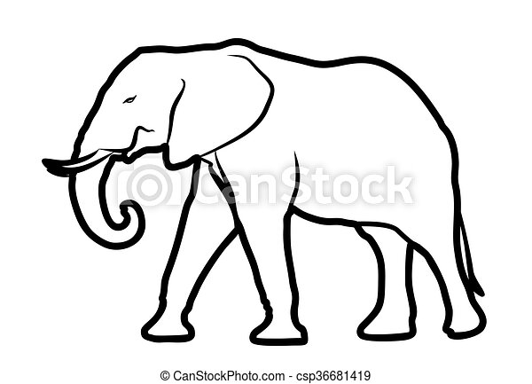 sketch of elephant sketch of a big elephant vector clip art rh canstockphoto com elephant vector images elephant vector free download