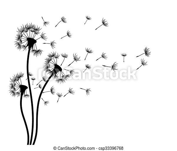 Sketch Of Field Dandelions