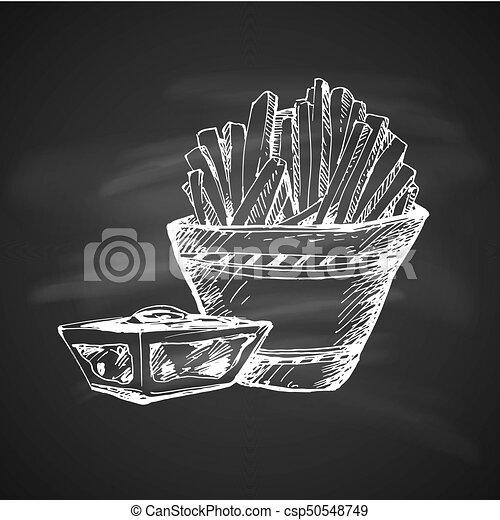 Sketch of Food - csp50548749
