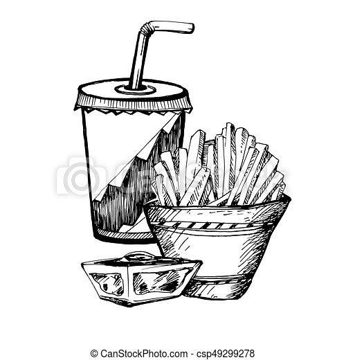 Sketch of Food - csp49299278
