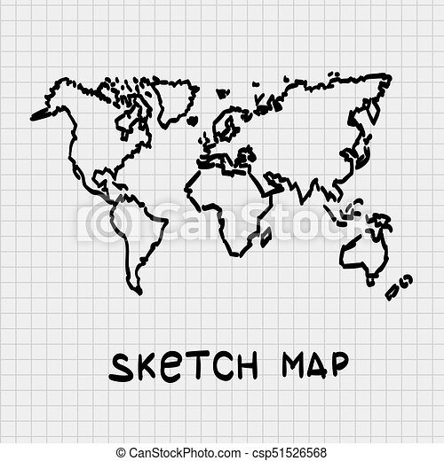 Sketch of hand drawn world map sketch of hand drawn world map sketch of hand drawn world map csp51526568 gumiabroncs Gallery