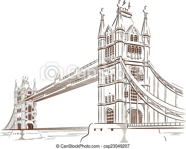 Sketch of London Bridge - csp23049207