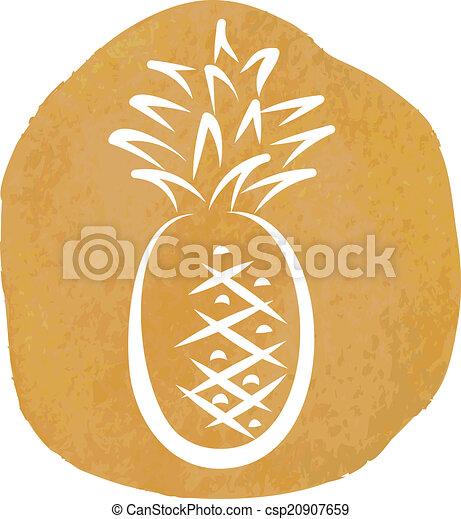 sketch of pineapple - csp20907659
