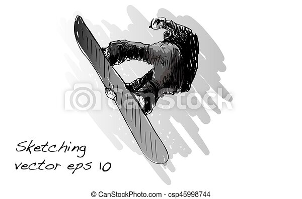 120666d148be Sketch of snow board man riding