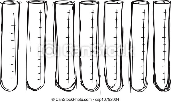 Sketch of test tube. vector illustration - csp10792004