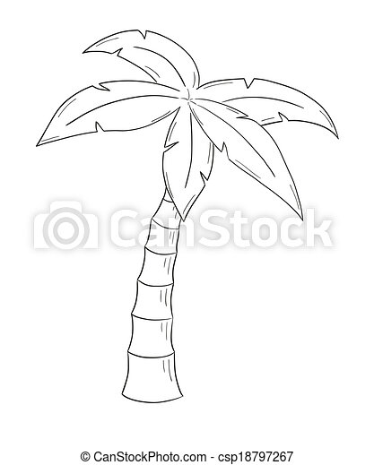 sketch of the palm tree - csp18797267