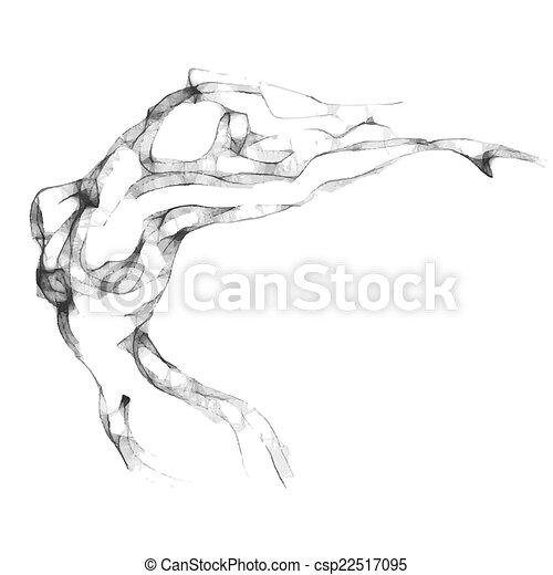 Sketch of woman torso - csp22517095