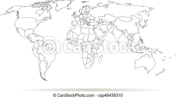 Sketch outline world map high detailed template with isolated countries sketch outline world map high detailed template with isolated countries csp46436310 gumiabroncs Gallery