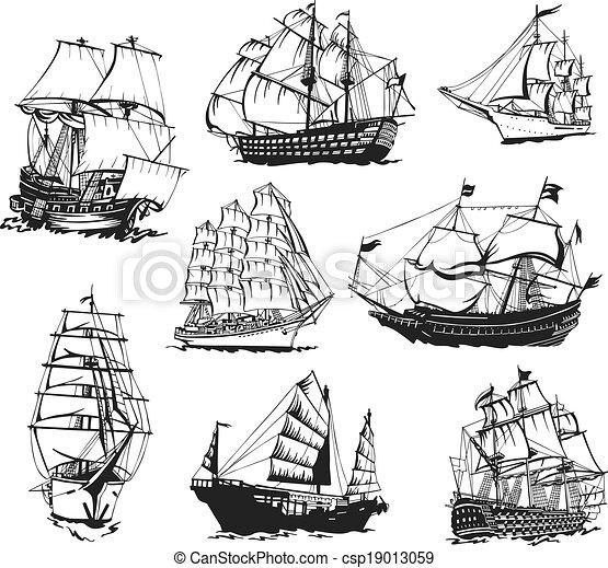 Sketches Of Sailing Ships Black And White Sketches Of Sailing