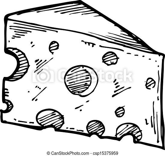 sketchy cheese slice - csp15375959