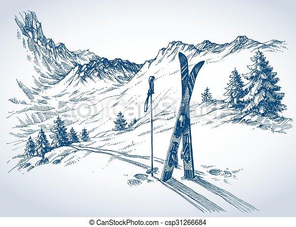 Ski background - csp31266684