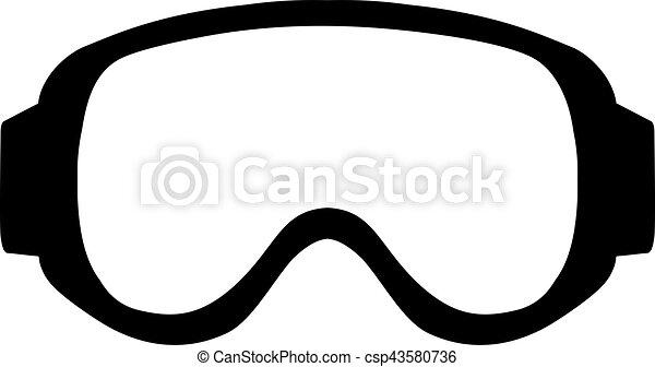 Ski Goggle Simple - csp43580736