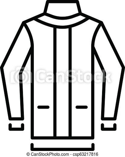 08339e98e0ba Ski jacket icon, outline style. Ski jacket icon. outline ski jacket ...