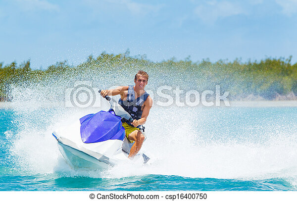 ski, jet, homme - csp16400750