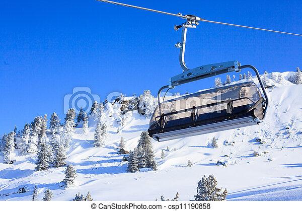 Ski Lift Chairs   Csp11190858