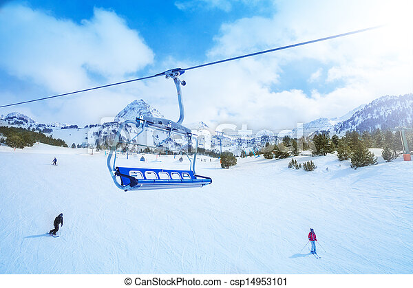 Ski lift seat - csp14953101