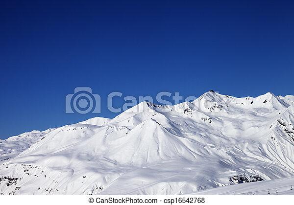 Ski resort at nice sunny day - csp16542768