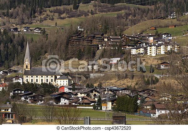 Ski resort town Matrei in Osttirol, Austria - csp43672520