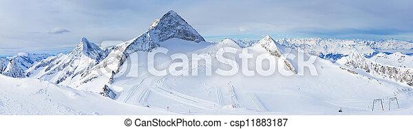 Ski resort Zillertal Hintertuxer Glacier. Austria - csp11883187