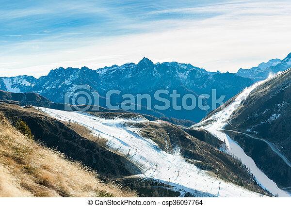 ski, schnee, künstlich, bereich - csp36097764