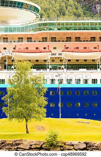 skib, closeup, cruise - csp48969592