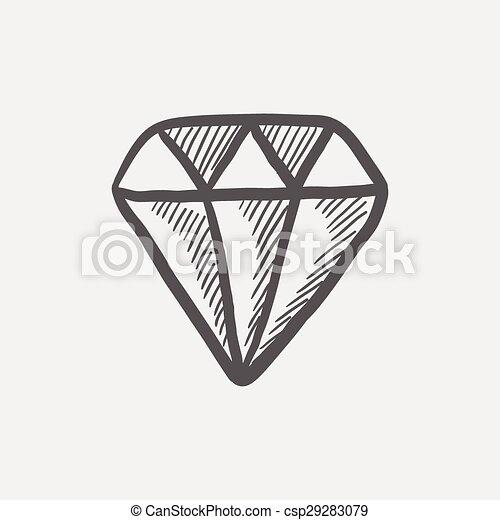 Skica Diamant Ikona Pavucina Skica Diamant Lehky Sedivy