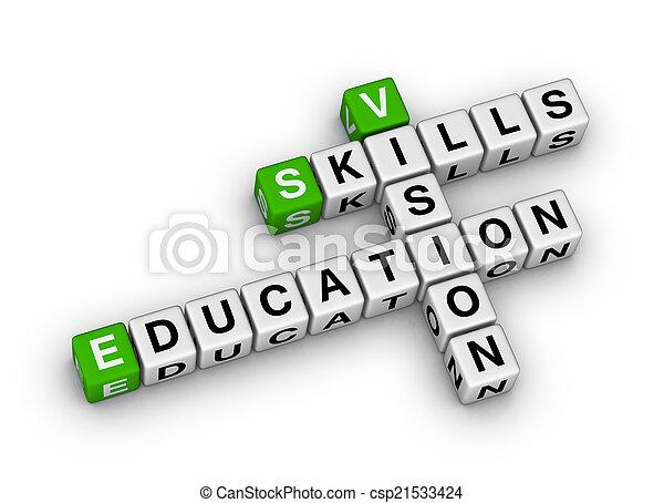 skicklighet, utbildning, vision - csp21533424