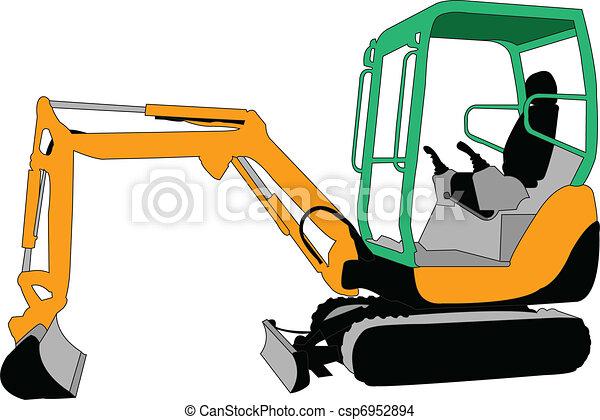 skid loader - vector - csp6952894