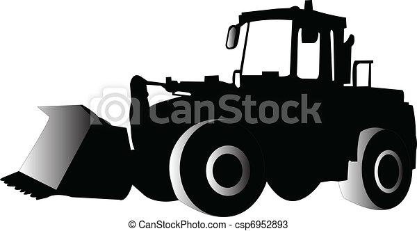 skid loader - vector - csp6952893