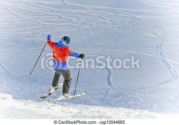 skier - csp13044683