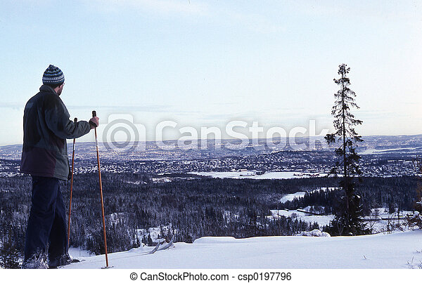 skieur - csp0197796