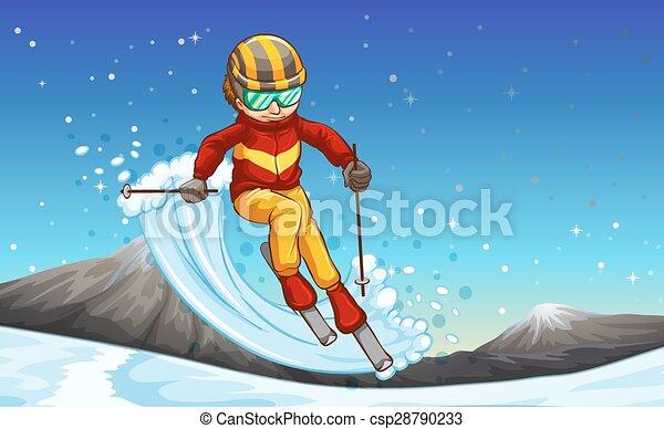 Skiing - csp28790233