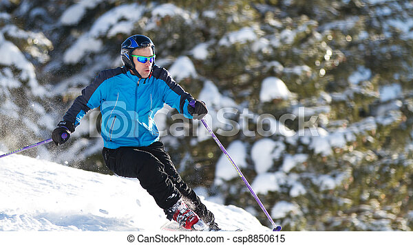 skiing in the Alps - csp8850615