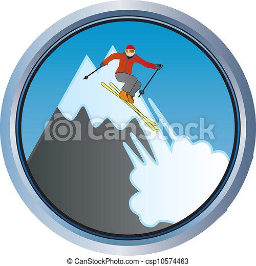 Skiing on the mountain - csp10574463