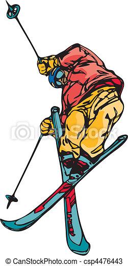 Skiing & Snowboarding - csp4476443