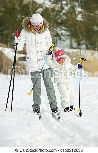 Skiing - csp8312635