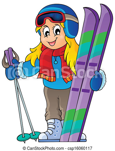 Skiing Theme Image 1 Eps10 Vector Illustration Vector