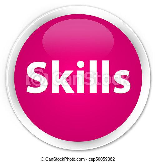 Skills premium pink round button - csp50059382