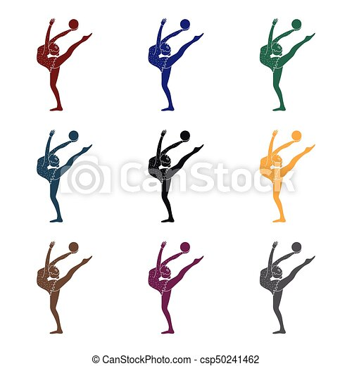 Skinny girl with ball in hand dancing sports dance the girl skinny girl with ball in hand dancing sports dance the girl is engaged in gymnasticstive sports sciox Choice Image