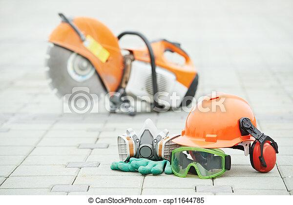 skiva, utrustning, skyddande, säkerhet, kutter - csp11644785