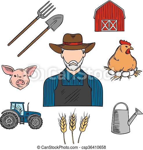 skizze  bauernhoftiere  symbol  landwirt  landwirtschaft pitchfork clipart free farmer pitchfork clipart